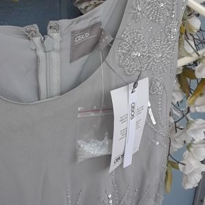 ASOS Dresses - New Asos gray embellished beaded dress size small